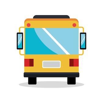 Diseño del ejemplo del vector del icono de la silueta del vehículo del autobús