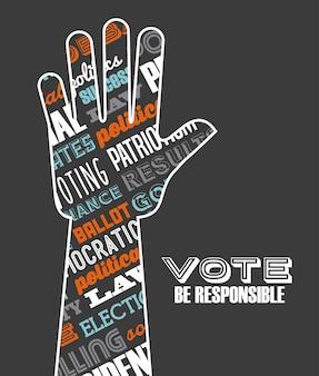 Diseño de elecciones democráticas, ilustración vectorial gráfico eps10