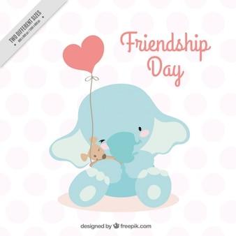 Diseño de elefante para el día de la amistad