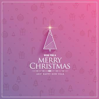Diseño elegante del árbol de navidad