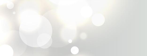 Diseño elegante de banner blanco bokeh