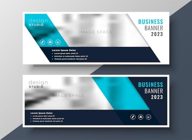Diseño elegante banner de negocios con espacio de imagen