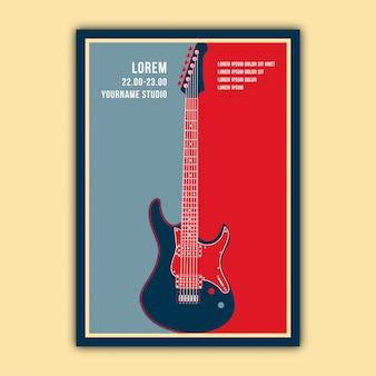 Diseño elegante del cartel de la música