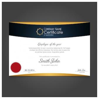 Diseño elegante de certificado