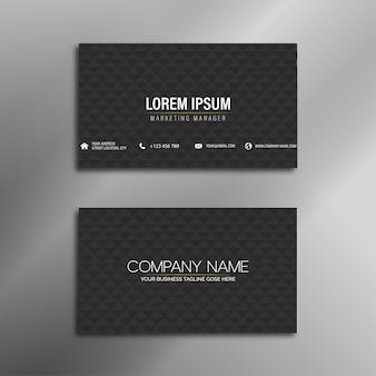 Diseño elegante y elegante de la tarjeta de visita negra