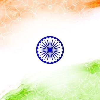 Diseño elegante floral para el día de la independencia de la india