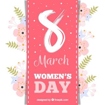 Diseño elegante floral para el día de las mujeres