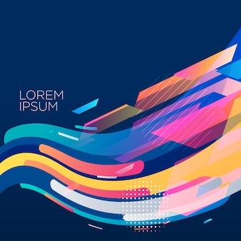 Diseño elegante del fondo de la onda colorida