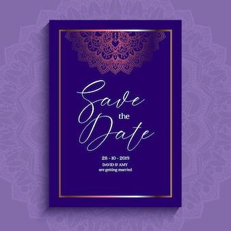 Diseño elegante de la invitación de la fecha