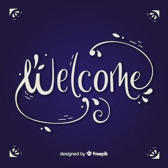 Diseño elegante de lettering de welcome