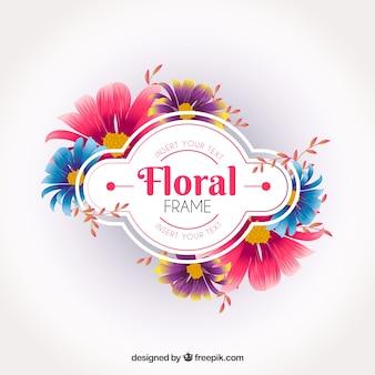 Diseño elegante de marco floral