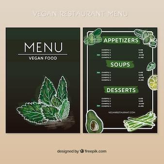 Diseño elegante de menú vegano