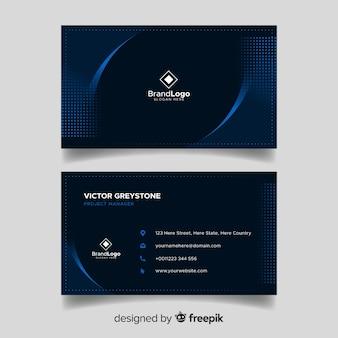Diseño elegante oscuro de plantilla de tarjeta de visita