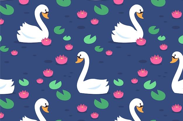 Diseño elegante patrón de cisne