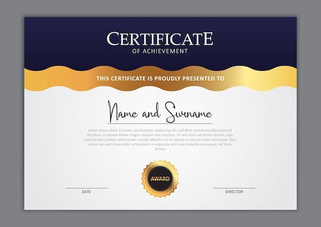 Diseño elegante de plantilla de certificado