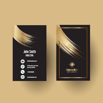 Diseño elegante de la plantilla de la tarjeta de visita