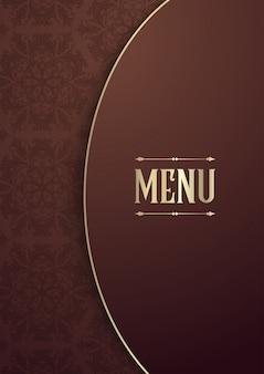 Diseño elegante de la portada del menú.
