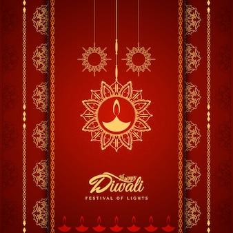 Diseño elegante rojo de diwali