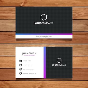 Diseño elegante simple de tarjeta de visita