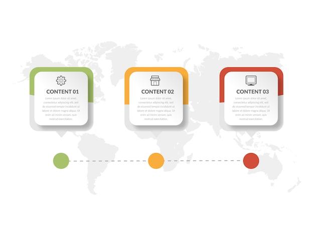 Diseño de elemento de infografía resumen línea de tiempo