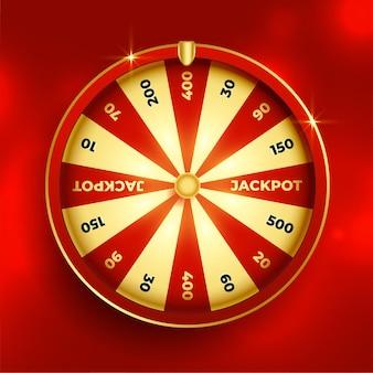 Diseño de elemento de suerte de lotería de rueda de la fortuna