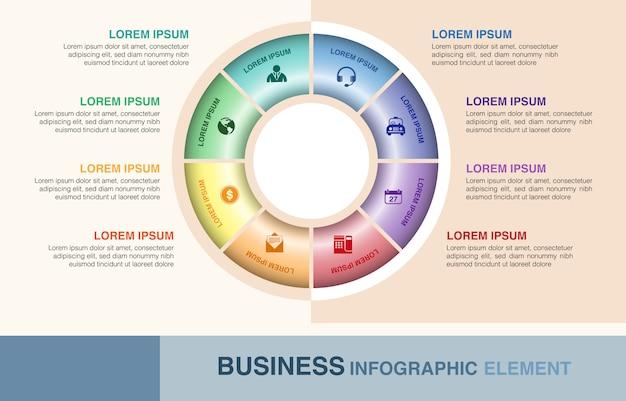 Diseño de elementos de infografía empresarial