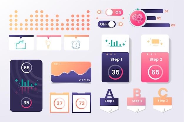 Diseño de elementos infográficos coloridos