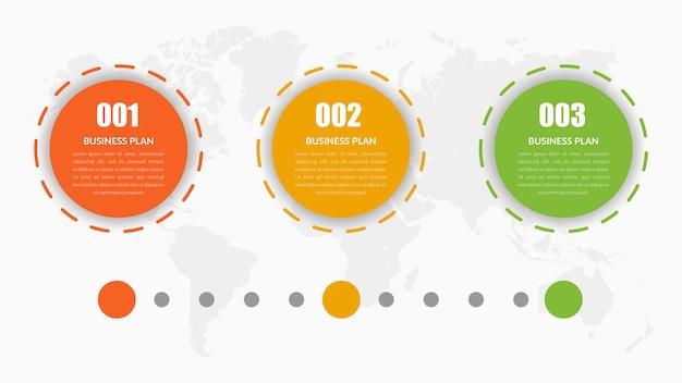 Diseño de elementos infográficos de la línea de tiempo del círculo