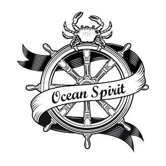 Diseño de emblema de crucero
