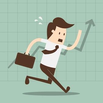 Diseño de empleado corriendo