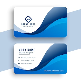 Diseño de empresa de identidad empresarial en tema de color azul