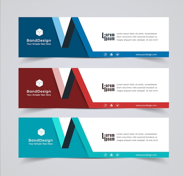 Diseño de encabezado de banner fondo de vector para sitio web de portada.