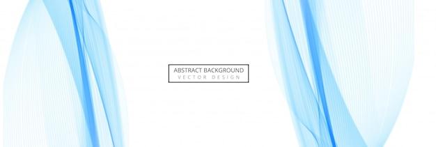 Diseño de encabezado de onda elegante azul abstracto