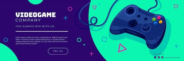 Diseño de encabezado de twitter de videojuegos