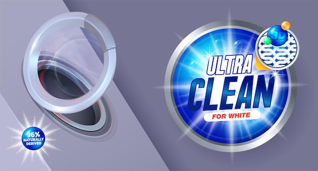 Diseño de envase para detergentes líquidos y en polvo.