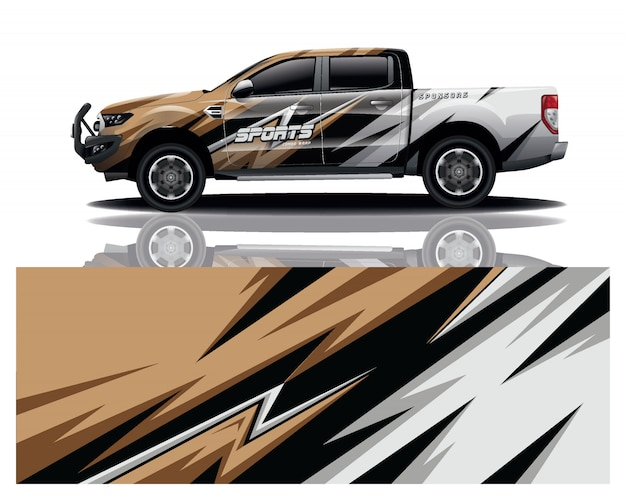 Diseño de envoltura de calcomanía para camión