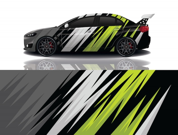 Diseño de envoltura de calcomanía de coche deportivo