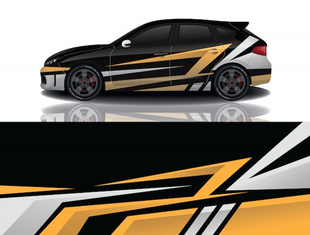 Diseño de envoltura de calcomanía para suv car
