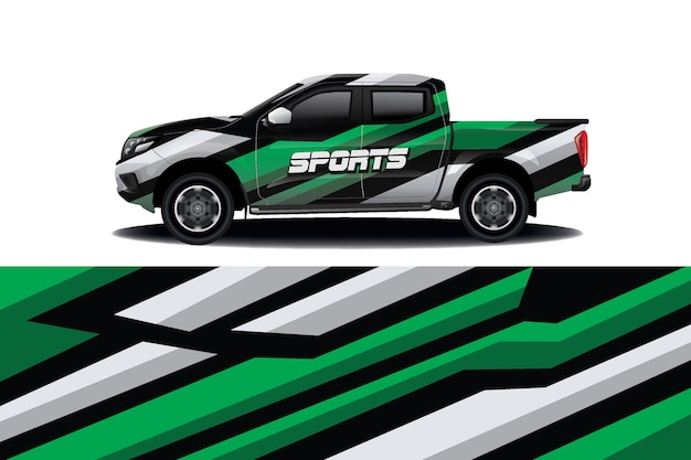 Diseño de envoltura de calcomanías para camiones y automóviles