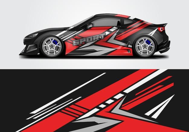 Diseño de envoltura de coche deportivo