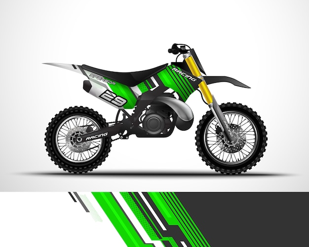 Diseño de envoltura de motocross