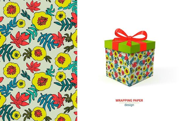 Diseño de envoltura de regalo