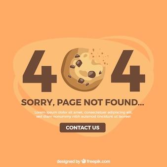Diseño de error 404 con galleta