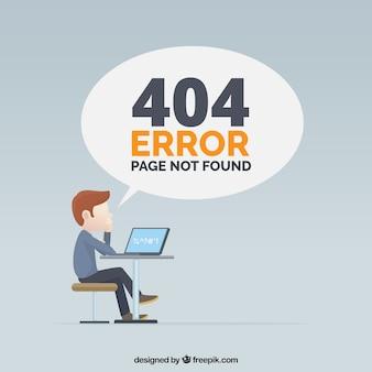 Diseño de error 404 con hombre