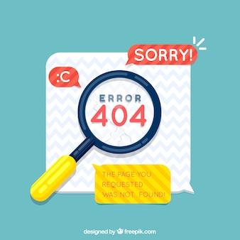Diseño de error 404 con lupa