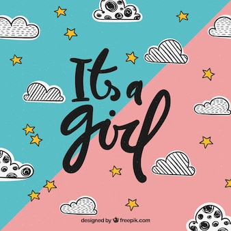 Diseño de es un chica