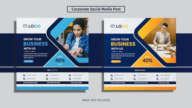 Diseño de escenografía de publicaciones de redes sociales corporativas con formas creativas.