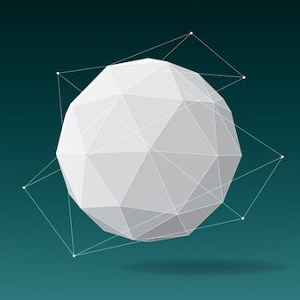 Diseño de esfera poligonal
