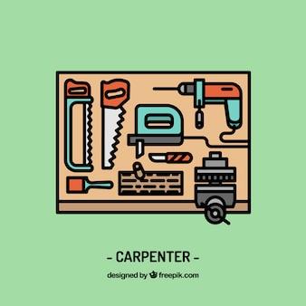 Diseño de espacio de trabajo de carpintero