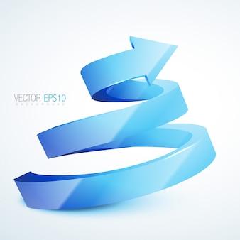 Diseño espiral 3d de flechas